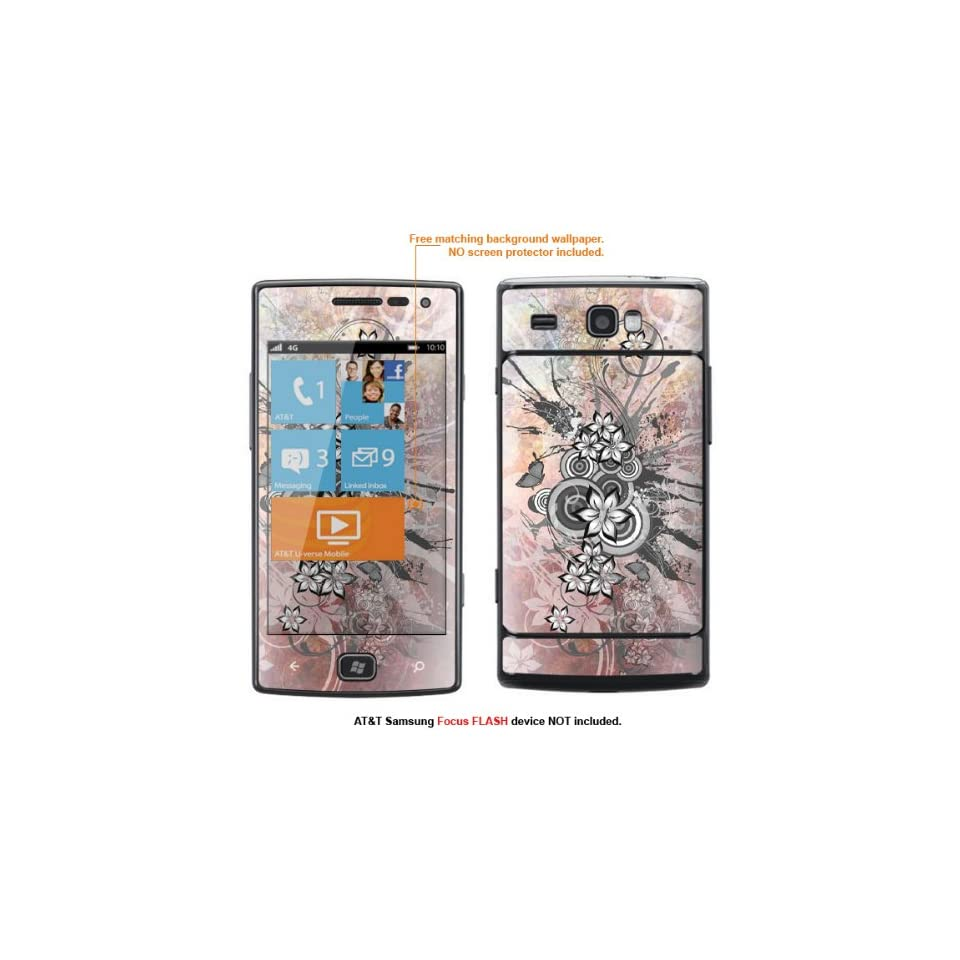 Protective Decal Skin Sticker for AT&T Samsung Focus Flash (Only fit Focus Flash Model) case cover FocusFLASH 181