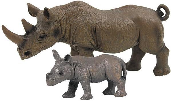 5 Stück Nashorn Nilpferd Figuren Spielfiguren Tierfiguren Wildtiere Figuren