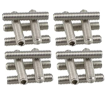 XunLiu 316 Stainless Steel Internal Hex Socket Cup Point Grub Screw 50, M3X3