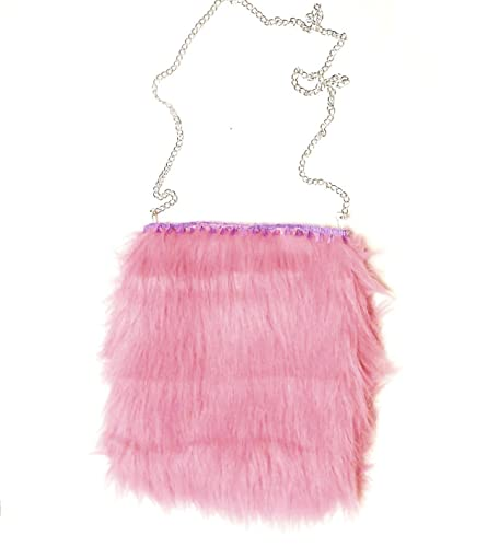 Image Unavailable. Image not available for. Color  Pastel Pink Faux Fur  Crossbody Bag ... 1156069e28e7b