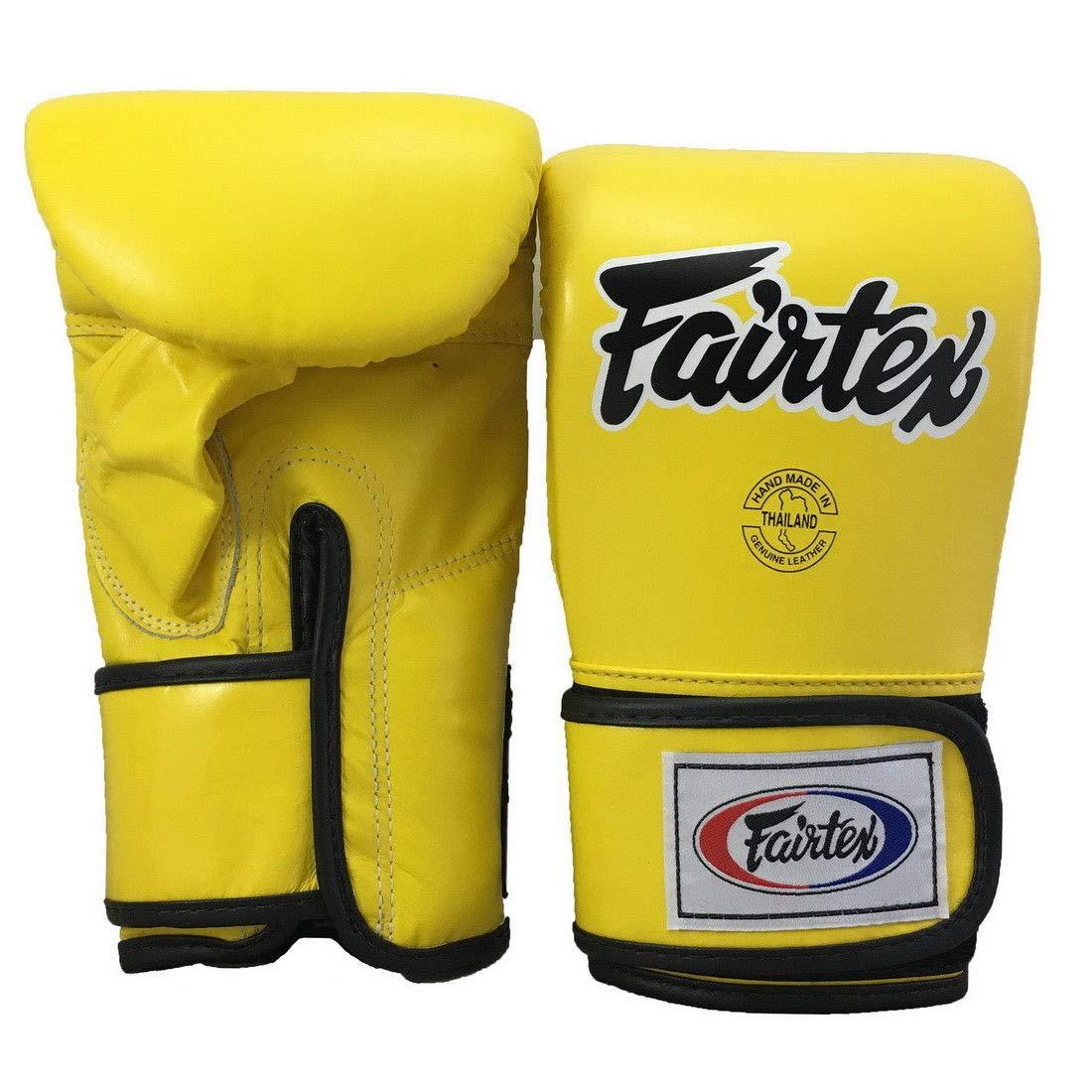 Fairtex TGT7 黄色 黒 パイピング クローストレーナー ボクシング&バッグ グローブ ムエタイ キックボクシング MMA K1 サイズ L