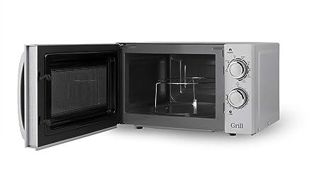 Orbegozo MIG 2038 - Microondas con grill, 700 W de potencia, 20 l, grill de 900 W, 9 niveles de funcionamiento, gris, 45.5 x 35 x 26 cm