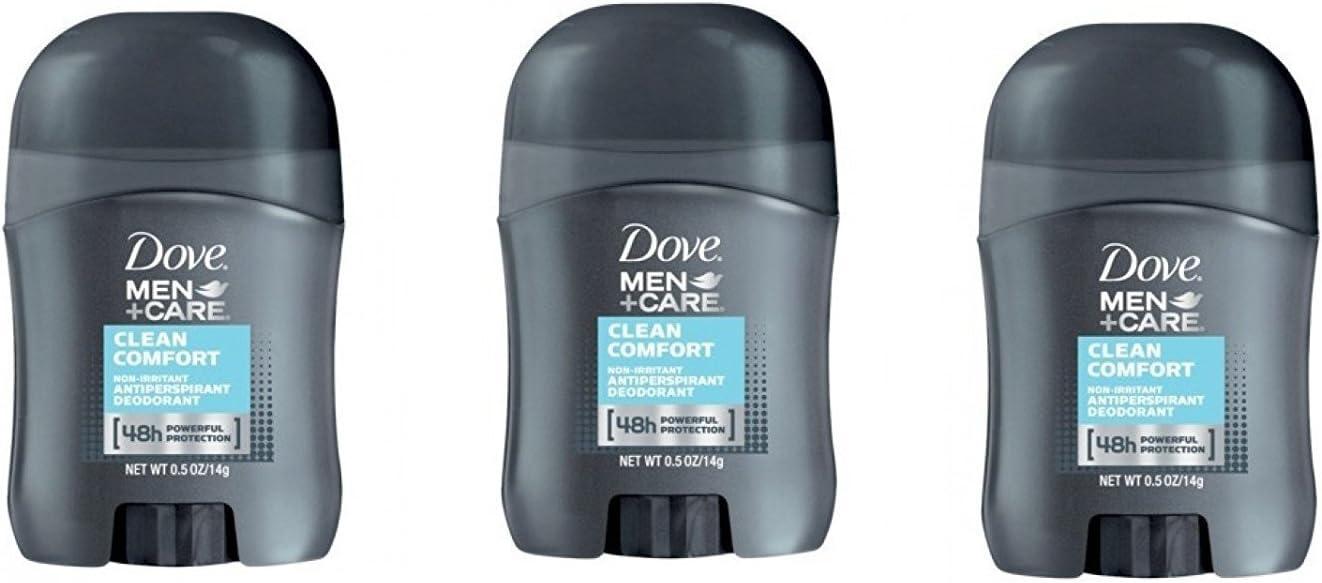 Dove Men+Care Clean Comfort Anti-Perspirant Deodorant Travel Size - 0.5 Oz (Pack of 3)