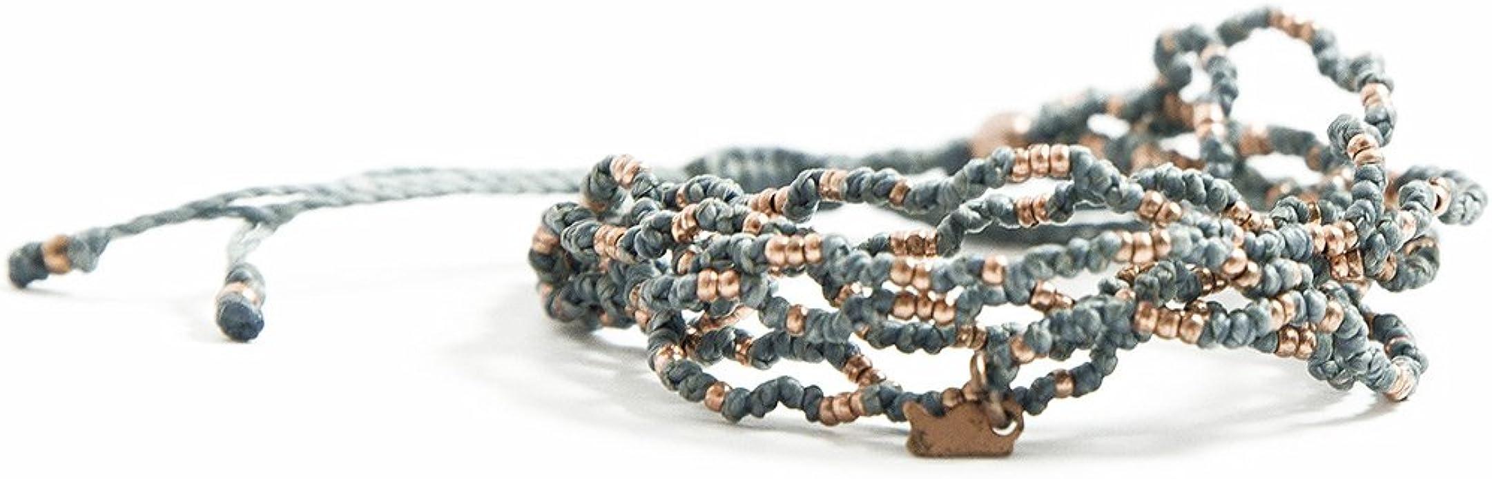 Adjustable Band Wild Midnight By Mabuhay Bracelets\u00ae Bright Bracelet 100/% Waterproof and Handmade wCoated Charm