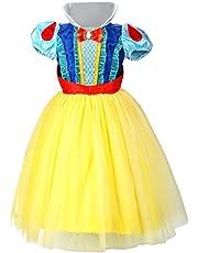 LOEL Snow White Princess Dress up Coustume Party Girl Dress (130cm for 4-5YS)