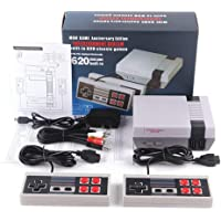 keqingshikeji Retro Game Console, AV Output Console Built-in Hundreds of Classic Video Games