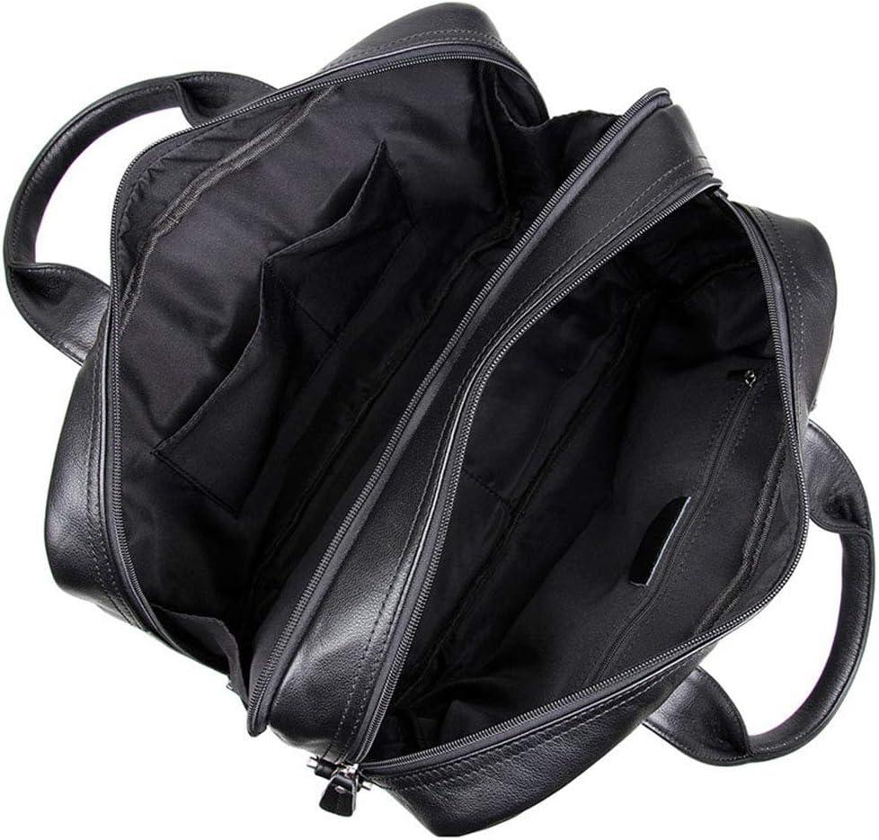 Cigkany Men Briefcase Leather Laptop Messenger Bag Office Briefcase College Bag for Work Travel College Top Handle Handbag School Satchel 15 Business Bag