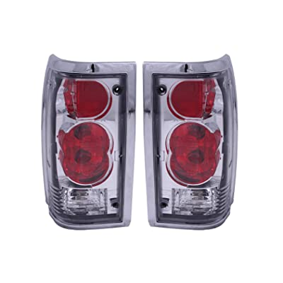 Anzo USA 211111 Mazda B2000 Chrome Tail Light Assembly - (Sold in Pairs): Automotive
