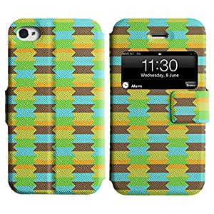 LEOCASE zigzag Funda Carcasa Cuero Tapa Case Para Apple iPhone 4 / 4S No.1007246