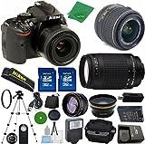 Nikon D5200 Camera with 18-55mm VR ZeeTech Bundle + 70-300mm G Zoom + 2pcs ZeeTech 32GB Memory Card + Case + Memory Card Reader + Tripod + ZeeTech Starter Kit + Wide Angle + Telephoto + Flash + Filter