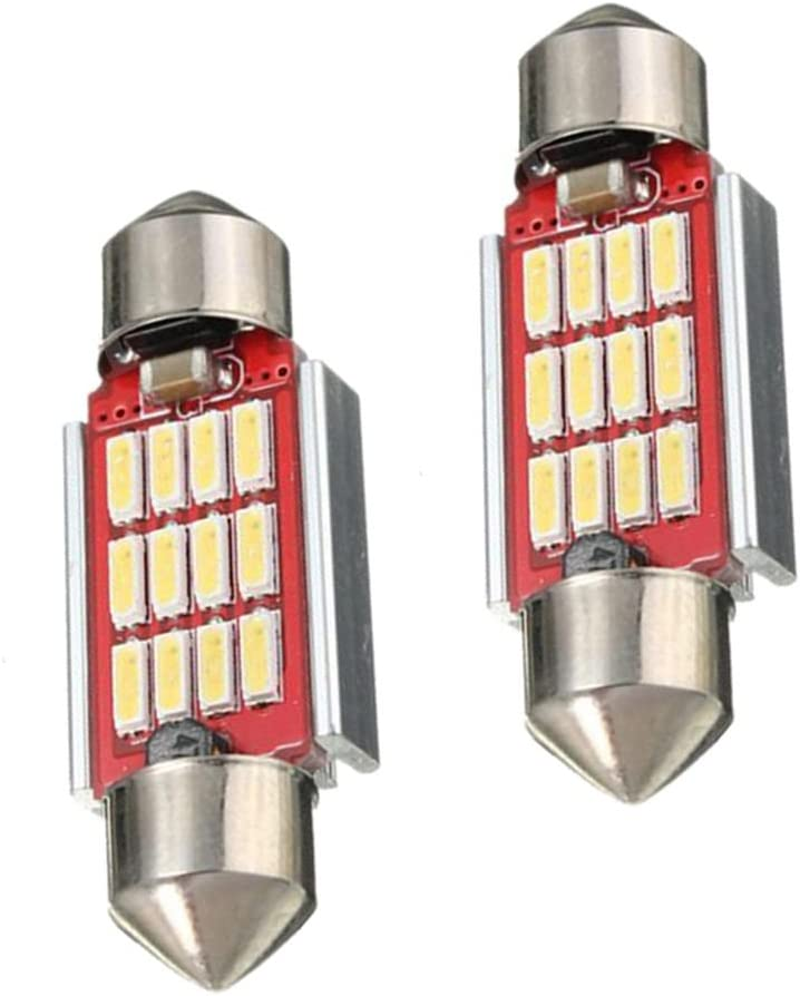 RETYLY 2 x 36mm 4014 LED 12SMD CANBUS Error Free Soffitte interior lighting
