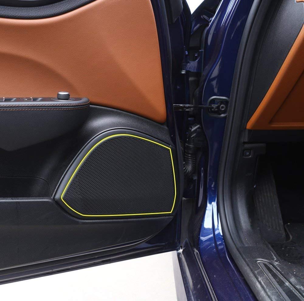 4 pcs//set Aluminum Alloy Door Speaker Cover Trim for Alfa Romeo Giulia 2017