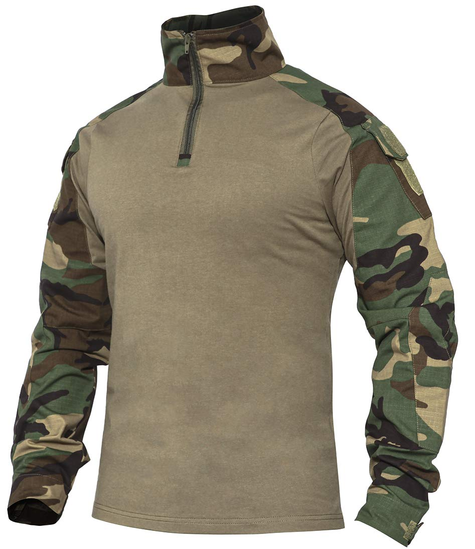 XKTTAC Tactical-Combat-Airsoft-Military-Shirt (Woodland, S) by XKTTAC