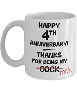 1st Wedding Anniversary Gift Mug For Him - Novelty Idea