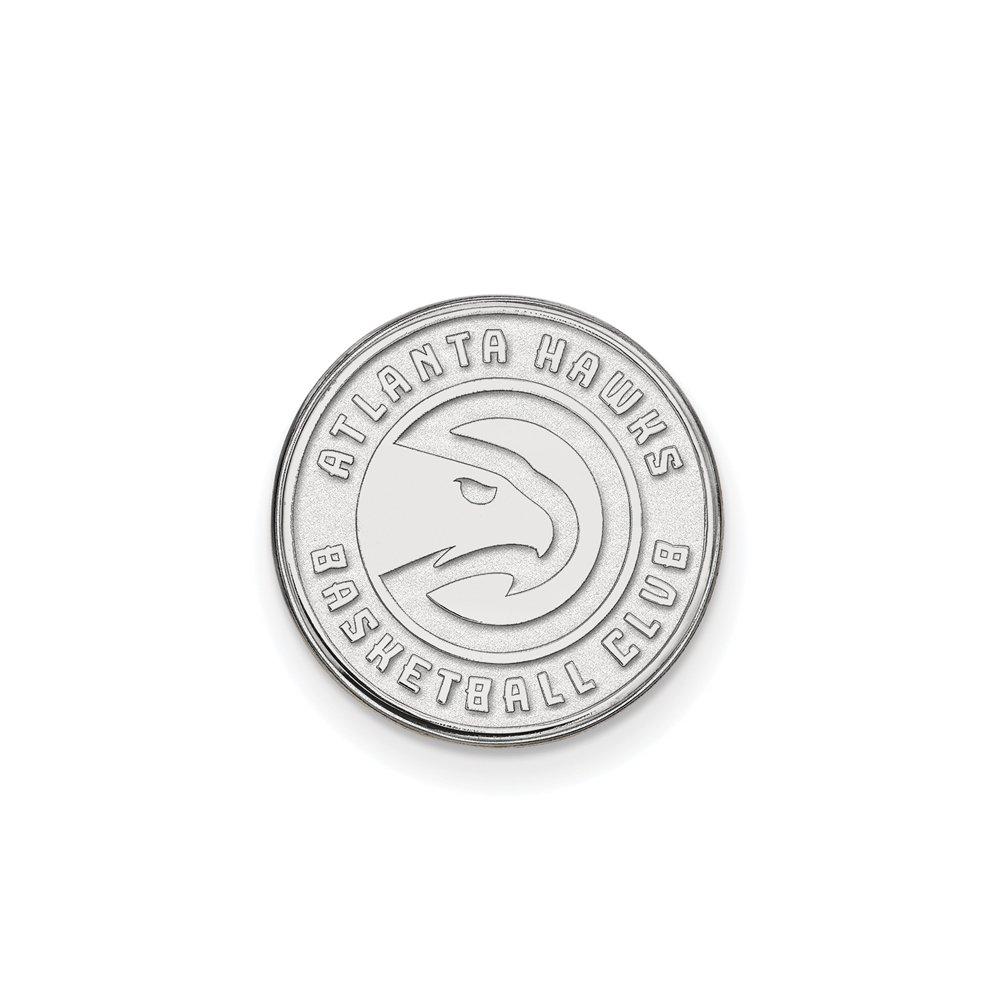 NBA Atlanta Hawks Lapel Pin in 14K White Gold