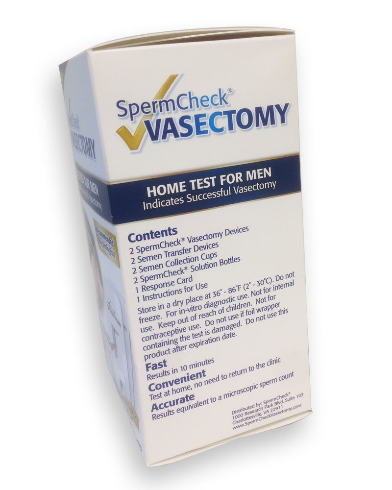 Amazon.com: SpermCheck® VASECTOMY 2 Test Kit: Health & Personal Care