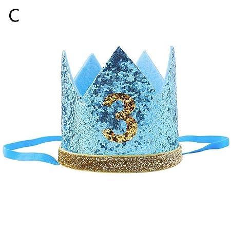 Corona de cumpleaños tiara de flores diadema bebé niño y ...