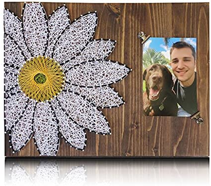 Daisy String Art Kit String Art Picture Frame Daisy Picture Frame Adult Crafts Kit Gift Ideas Flower String Art All Supplies Included