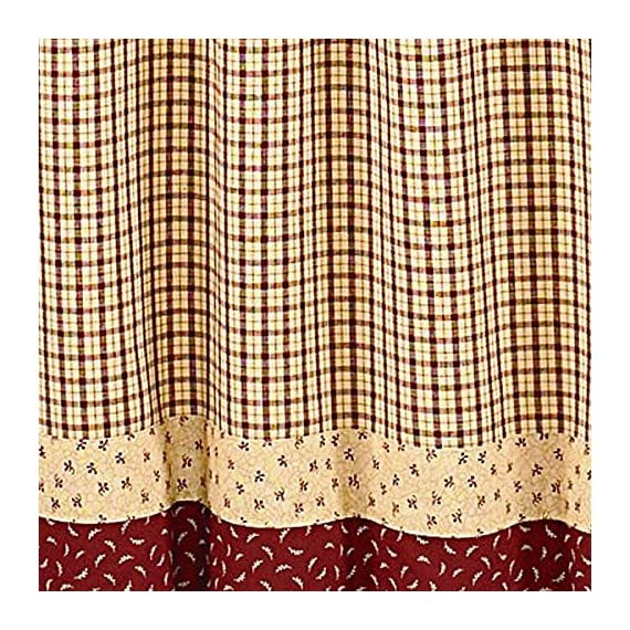 "Apple Jack Country Valance, 72 Inch X 14 Inch - Classic look for window top Valance has a 1.5"" header and 2"" rod pocket Machine wash cold, delicate cycle, line dry - living-room-soft-furnishings, living-room, draperies-curtains-shades - 61BUXRgCueL. SS570  -"