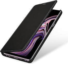 StilGut Book Type Case, Custodia per Samsung Galaxy Note 9 a Libro Booklet in Vera Pelle, Nero Nappa
