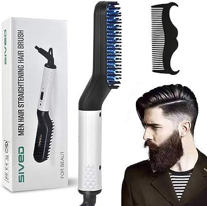 Peine alisador de barba para hombres – Cepillo alisador de cabello ...