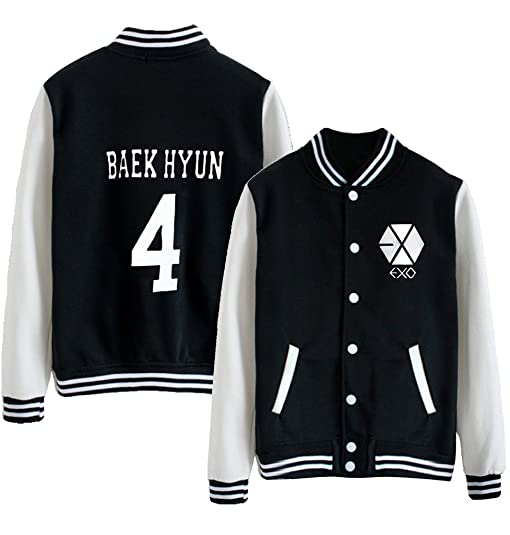 Kpop EXO EXO-M EXO-K Varsity Baseball Jacket Overcoat at Amazon ...