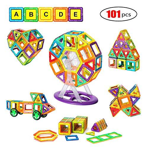 Magnetic Toys For Boys : Magnetic blocks tile pcs set magnet building