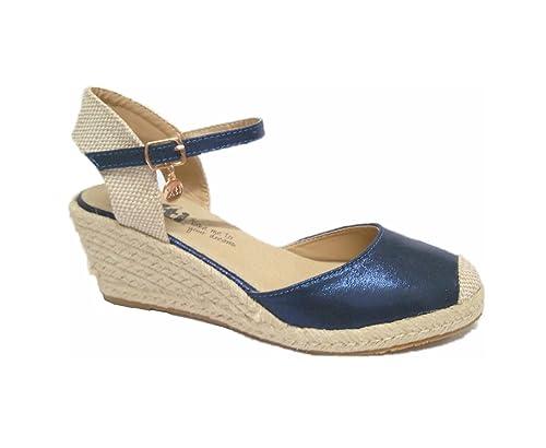Valencianas de xti XTI ALPARGATAS talla 40 AZUL POLIPIEL: Amazon.es: Zapatos y complementos