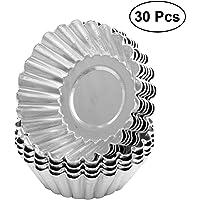BESTONZON 30 moldes de aluminio antiadherentes para tartas