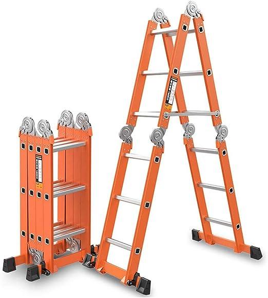CHQYY Escalera telescópica multifunción Escalera Plegable Aleación de Aluminio Escalera de Engrosamiento Carga de Carga 150 kg Escalera de hogar Escaleras de elevación Escalera de ingeniería: Amazon.es: Hogar