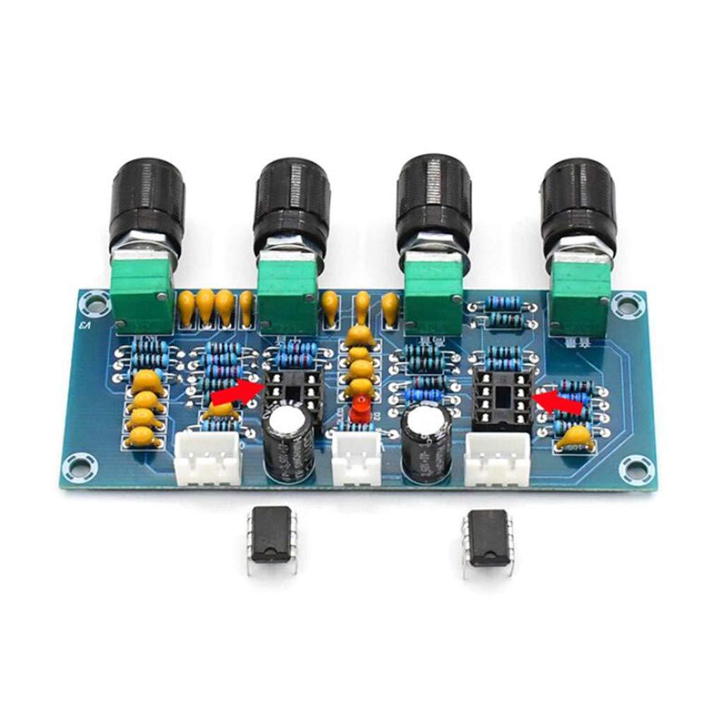 Anjuley Pr/éampli XH-A901 NE5532 Tone Board Pr/éamplificateur avec Pr/éamplificateur De R/églage du Volume des Graves Graves Contr/ôleur De Tonalit/é pour Carte Amplificateur