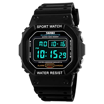 LED Digital Militar deporte impermeable movimiento de cuarzo hombres relojes Skmei 1134 negro: Amazon.es: Relojes