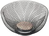 NIFTY 7530ORB Double Wall Mesh Decorative and Fruit Bowl, 3.5 quart/10, Bronze
