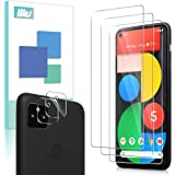 [3+2 Pack] WRJ 3 Pack Screen Protector + 2 Pack Camera Lens Protector for Google Pixel 5,HD No-Bubble 9H Hardness…
