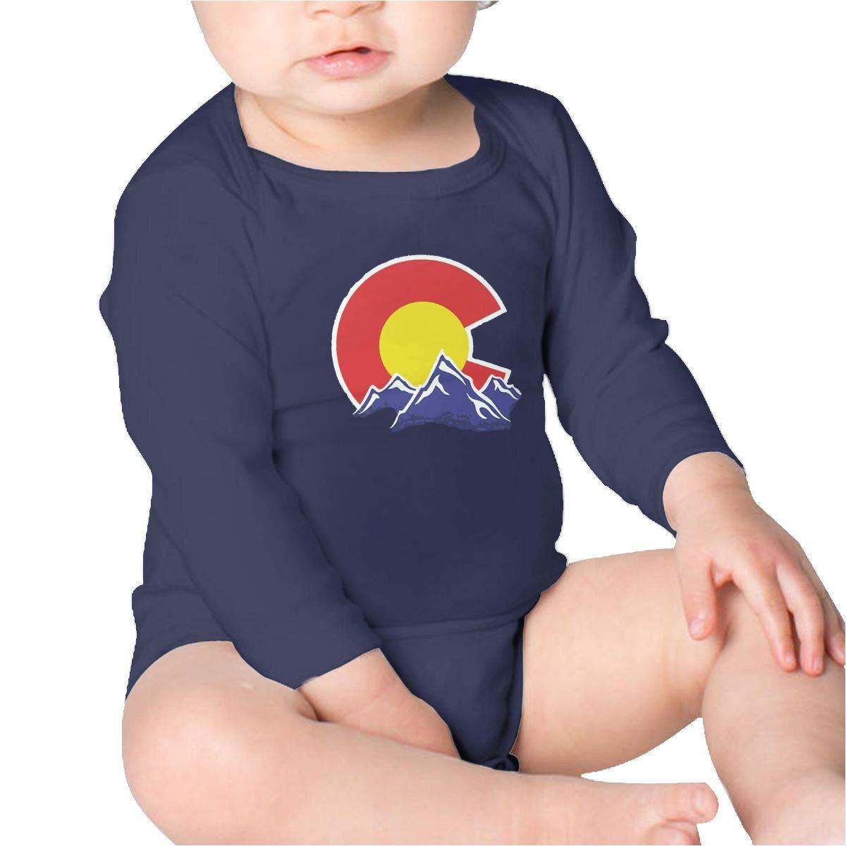 Pikaqiuleilei Colorado Mountain Girls Cotton,Long Sleeve Baby Romper