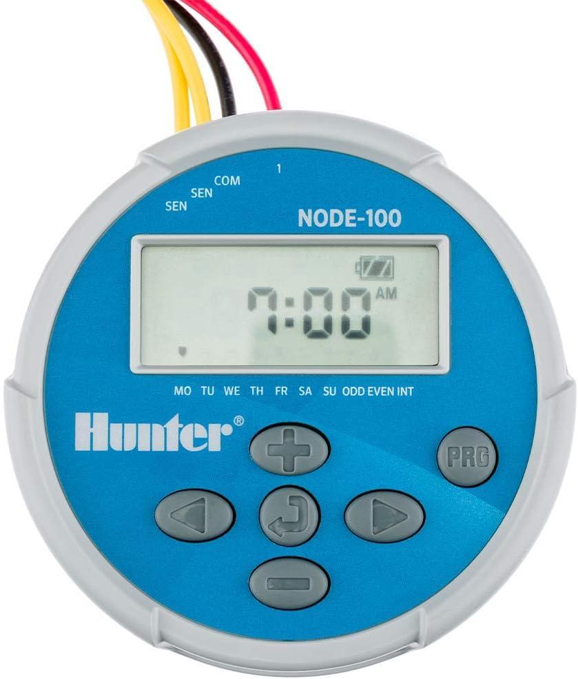 Hunter NODE-100 Valve, Programador de una estación con válvula PGV-101G y solenoide de impulsos de CC