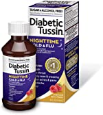 Diabetic Tussin Nighttime Cold and Flu Relief for Fever, Headache, Cough,