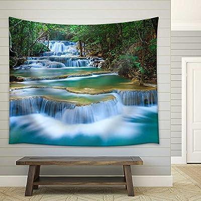 Elegant Artisanship, Deep Forest Waterfall in Kanchanaburi Thailand Fabric Wall, That You Will Love