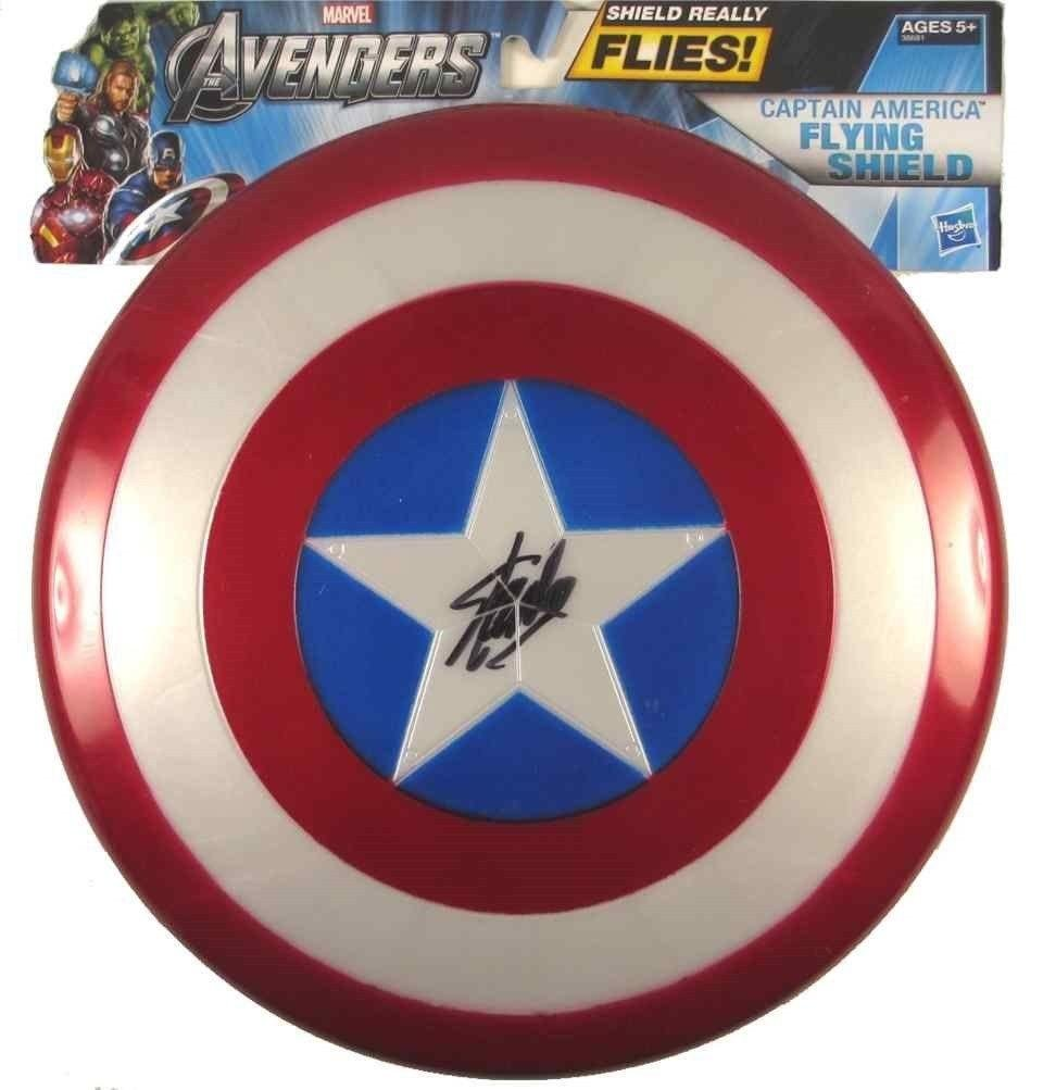 Authentic Stan Lee Captain America Autographed Signed Shield - DeluxeAdultCostumes.com