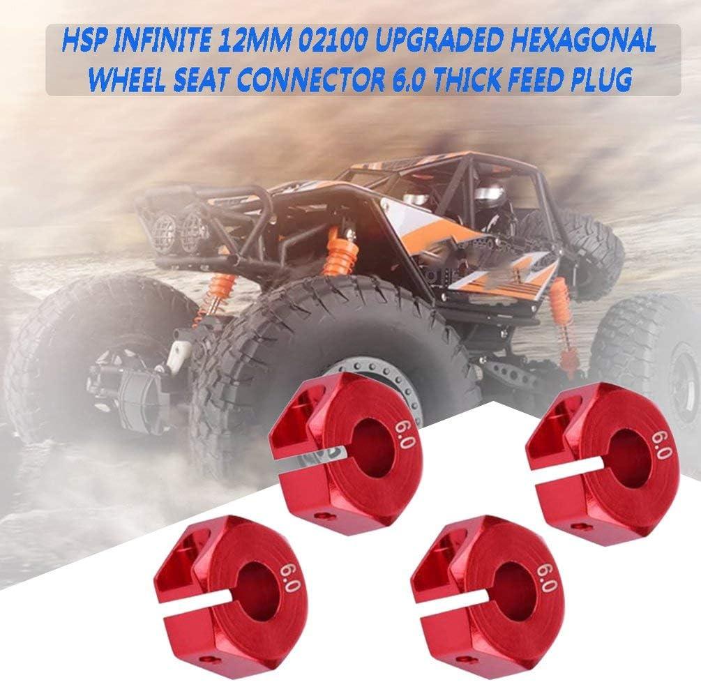SEN Tuerca Hexagonal de Rueda Gruesa de 6 mm con Clavijas Piezas de actualizaci/ón de Cubos de transmisi/ón para 4WD RC Car Rojo 6.0 mm CA4348