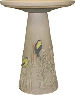product image for Burley Clay Goldfinch Bird Bath Pedestal