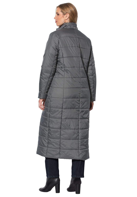 0af7cf1f3 Women Roamans Womens Plus Size Quilted Faux-Fur Trim Maxi Length Parka  51764200133mkM~M Coats