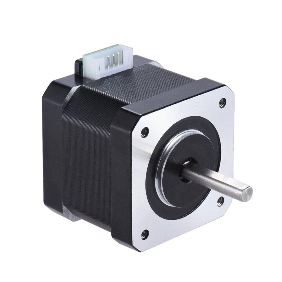 JoyNano Nema 17 Stepper Motor Bipolar 1.7A 40N.cm Holding Torque 2-Phase 4-Wire 1.8 Deg 40mm Body for 3D Printer Or CNC Machine