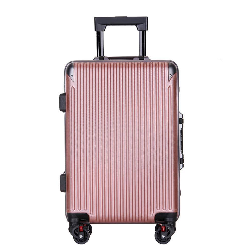 アルミフレームトロリーケース傷防止ユニバーサルホイールスーツケース男性と女性ビジネスパスワード搭乗パッケージ((20/22/24/26インチ) (Color : ローズゴールド, Size : 26 inch)   B07R8X6ZWJ