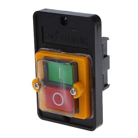 SODIAL(R) AC 220 / 380V EN Resistente al agua Interruptor de Boton KAO