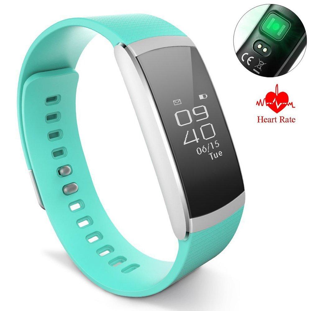 OOLIFENG Fitness Tracker HR, Relojes Pulsómetros Impermeable Pulsera ...