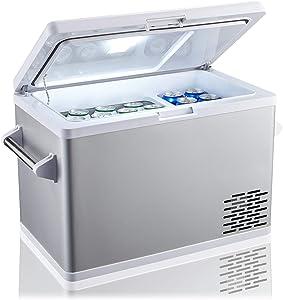 Ausranvik 45 Quart (42L) Portable Fridge for Car Freezer, 12/24V DC 110V AC, 4F degree, Car Fridge Compact Refrigerator, for Truck, Van, RV Road Trip, Outdoor, Camping, Picnic, BBQ