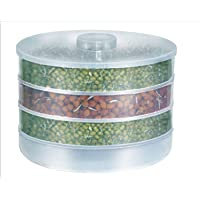 KBF Sprout Maker   Plastic Sprout Maker Box   Hygienic Sprout Maker with 4 Container   Organic Home Making Fresh Sprouts Maker for Living Healthy Life Sprout Maker 4 Bowl Sprout Maker for Home