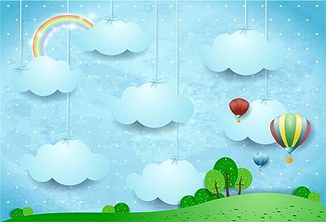 amazon com aofoto 8x6ft dreamy sky backdrop childish cute clouds
