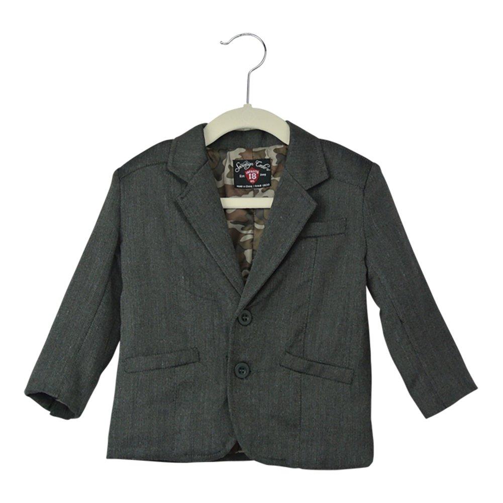 Infant Toddler Little Boys Black Chambray Blazer Suit Jacket